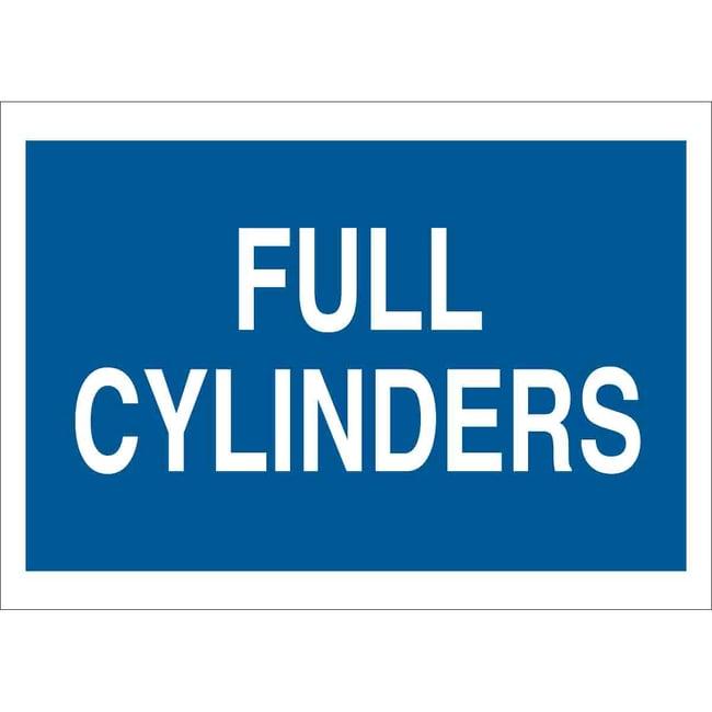 Brady Polystyrene Sign: FULL CYLINDERS Polystyrene Sign: FULL CYLINDERS:Gloves,