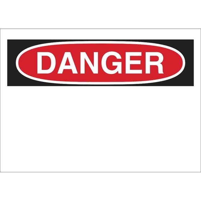 Brady Fiberglass Sign: DANGER Fiberglass Sign: DANGER:Gloves, Glasses and