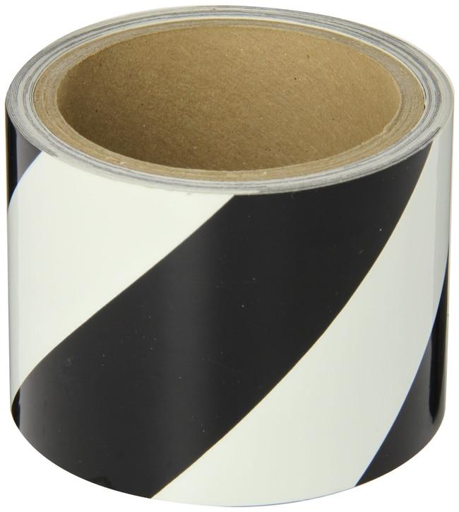 Brady BradyGlo Egress Marking Tape Roll, Diagonal Stripes, Black on Glow