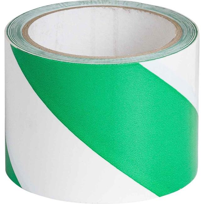 Brady Marking Tape Roll: High Performance Laminated Vinyl, Diagonal Stripes,