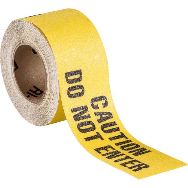 Brady Hazard Marking Anti-Skid Tape Roll - Anti-Skid Laminated Vinyl, CAUTION