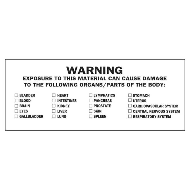 Brady Chemical, Biohazard & Hazardous Material Labels - Cold Temperature