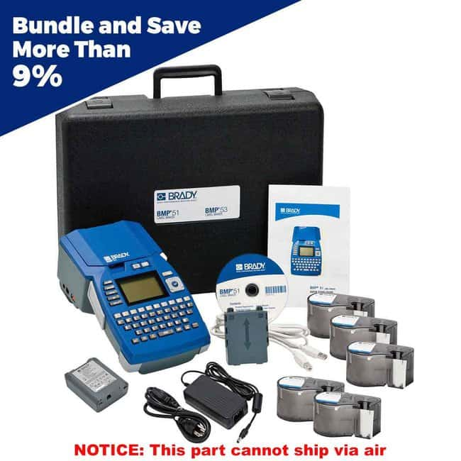 Brady BMP51 Label Printer with Voice/Data Supply Kit BMP™51 Label