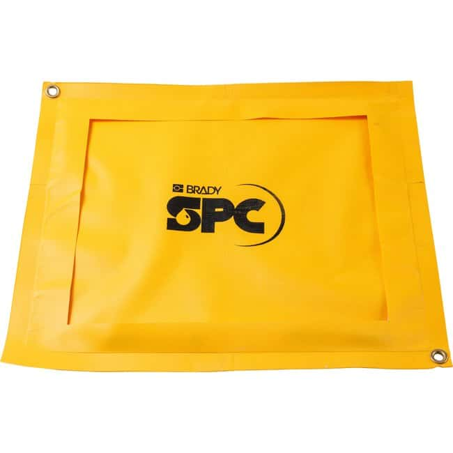 Brady SPC Drip Pads Material: PVC; Color: Yellow:Gloves, Glasses and Safety