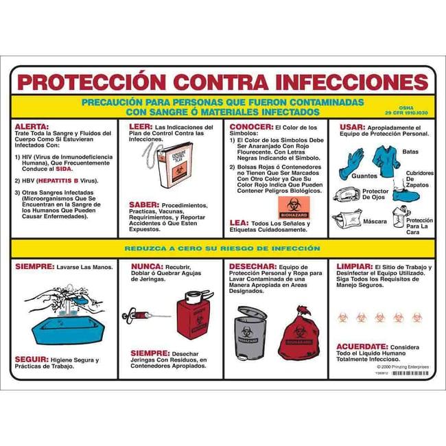 Brady Employee Hazard Communication & Biohazard Poster - Laminated Paper,