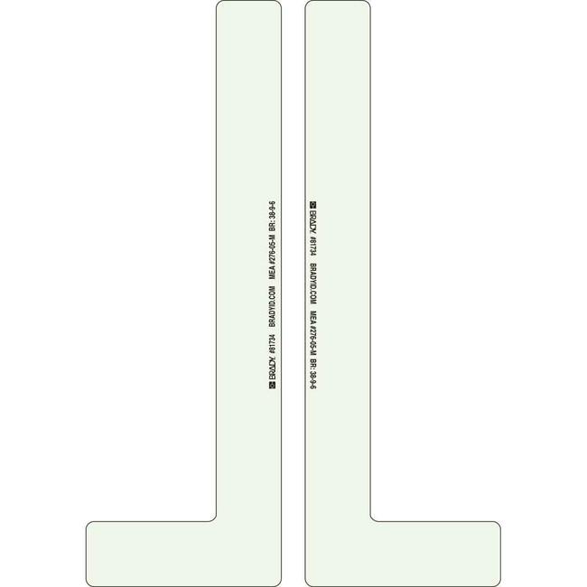 Brady BradyGlo Marking Tape with L-Shaped Corner Marks - Anti-Skid Laminated