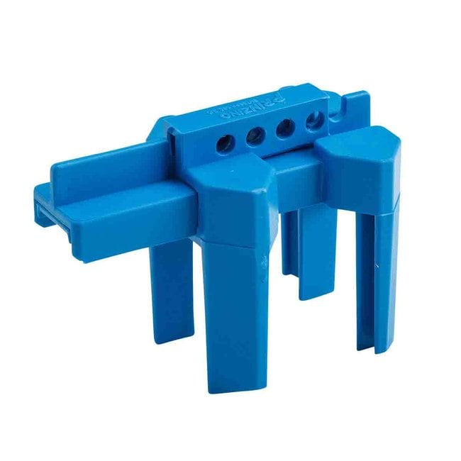 Brady Small Ball Valve Lockout Device, 0.5 to 2.5 in Blue:Gloves, Glasses