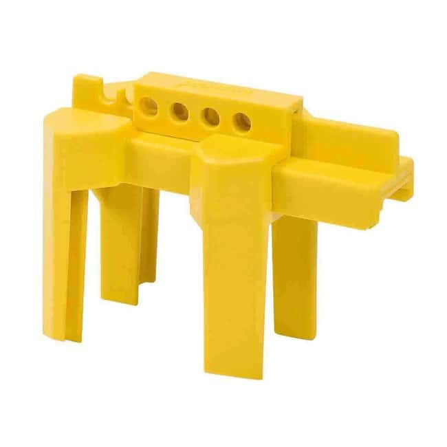 Brady Small Ball Valve Lockout Device, 0.5 to 2.5 in Yellow:Gloves, Glasses