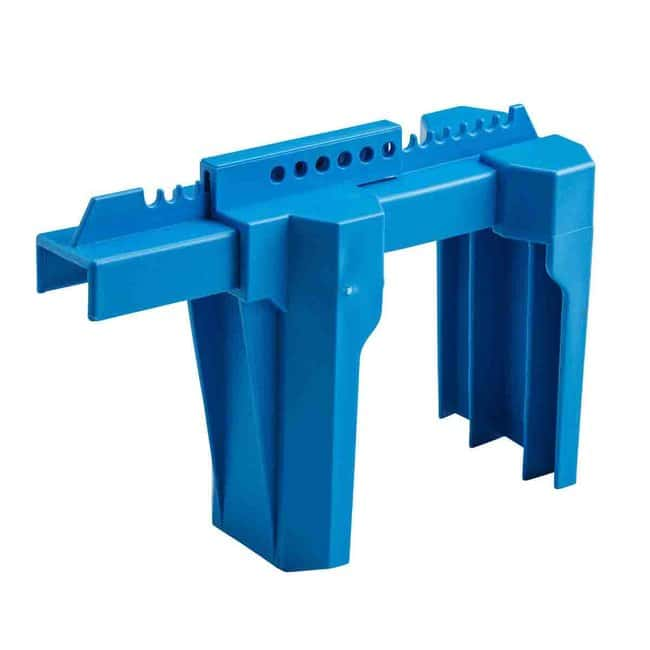 Brady Large Ball Valve Lockout Device, 2 to 8 in. Blue:Gloves, Glasses