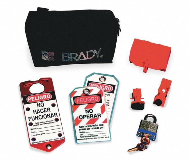 Brady Electric Lockout Pouch Kit Spanish 1/Kit; Electrical risk lockouts:Gloves,