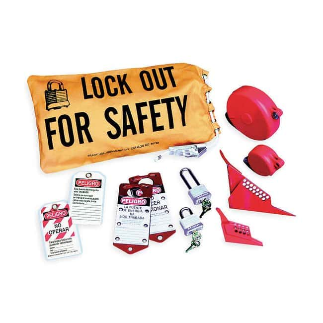 Brady Valve Lockout Kit Canvas; 18 in. x 9.75 in.:Gloves, Glasses and Safety