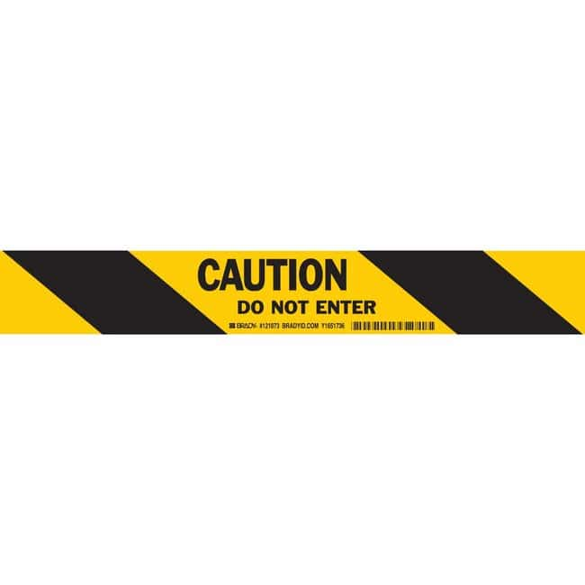 Brady Bradystripe Temporary Sign Tape Bradystripe™ Temporary Sign