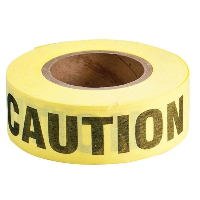 Brady Re-Pulpable Caution Barricade Tape Re-Pulpable Caution Barricade
