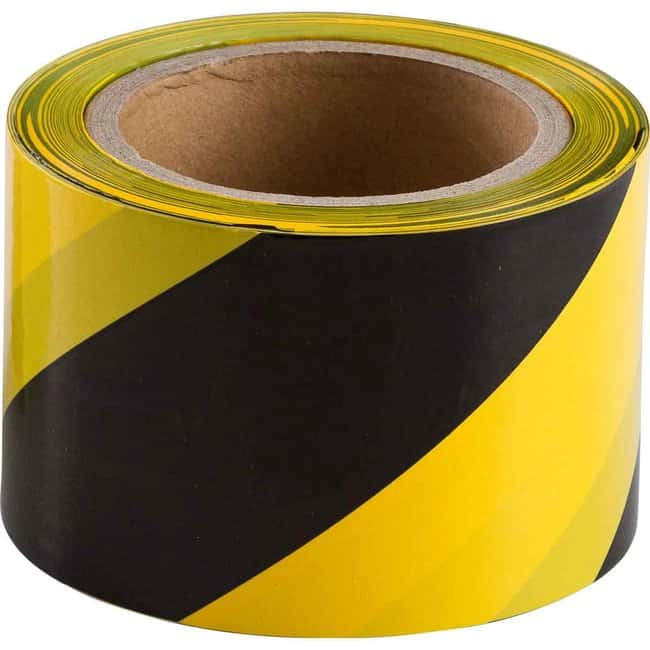 Brady Standard Barricade Tape Roll: Non-Adhesive Lightweight Polyethylene,