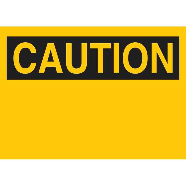 Brady Polycoated Tagstock Sign: CAUTION Polycoated Tagstock Sign: CAUTION:Gloves,