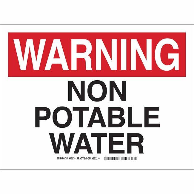 Brady Polystyrene Sign: NON-POTABLE WATER Polystyrene Sign: NON-POTABLE