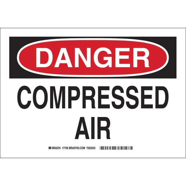 Brady Polyester Sign: COMPRESSED AIR Polyester Sign: COMPRESSED AIR:Gloves,