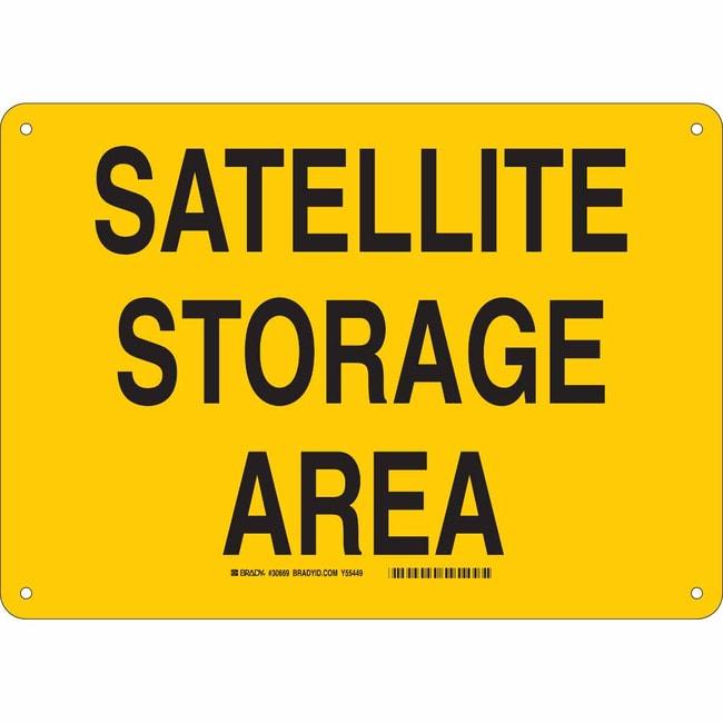 Brady Polyester Sign: SATTELITE STORAGE AREA Polyester Sign: SATTELITE