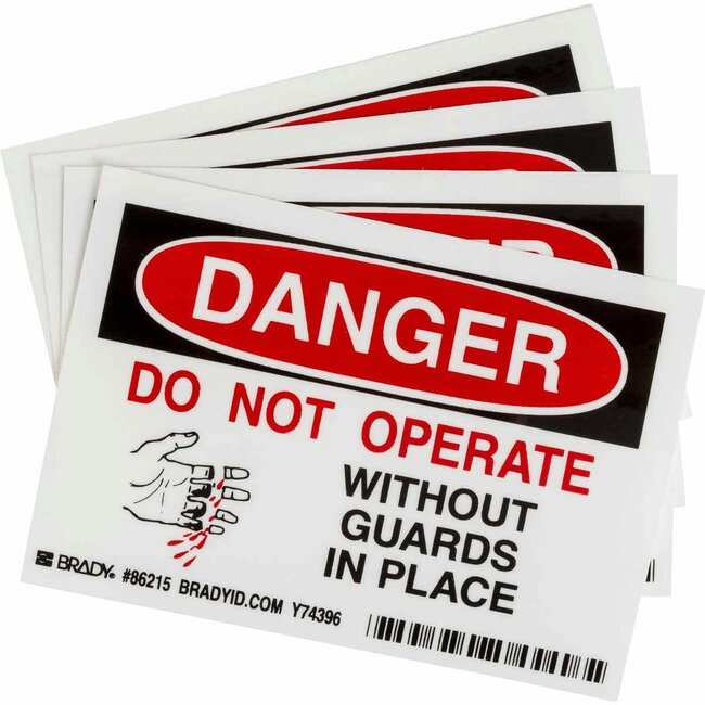 Brady Chemical, Biohazard & Hazardous Material Labels - Self-Sticking Polyester