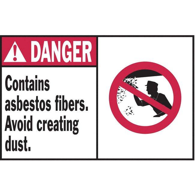 Brady DANGER CONTAINS ASBESTOS FIBERS AVOID CREATING DUST Hazardous Material