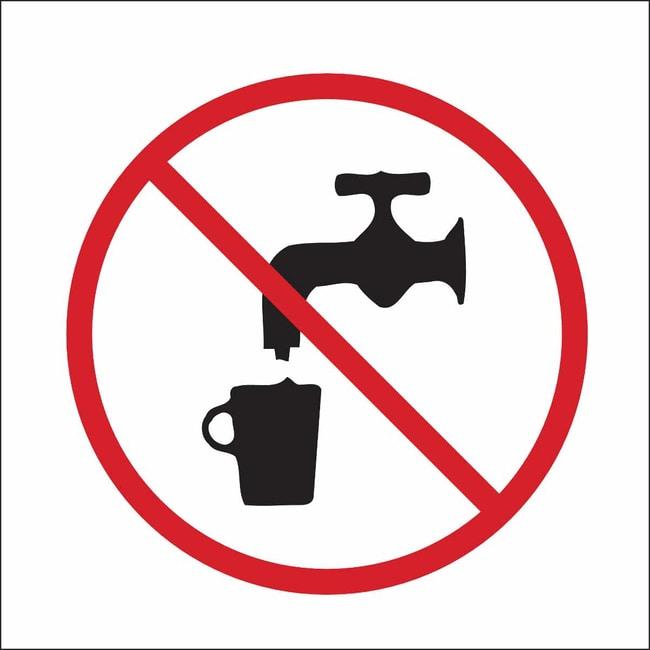 Brady Chemical, Biohazard & Hazardous Material Sign - UNSAFE TO DRINK PICTO
