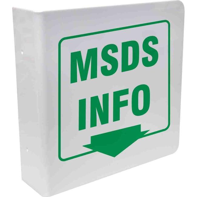 Brady Acrylic Sign: MSDS INFO, L Style Acrylic Sign: MSDS INFO, L Style:Gloves,