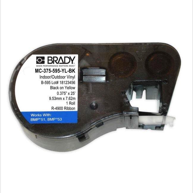 Brady M Series Indoor/Outdoor Industrial Vinyl Label Supply Black on Yellow:Gloves,