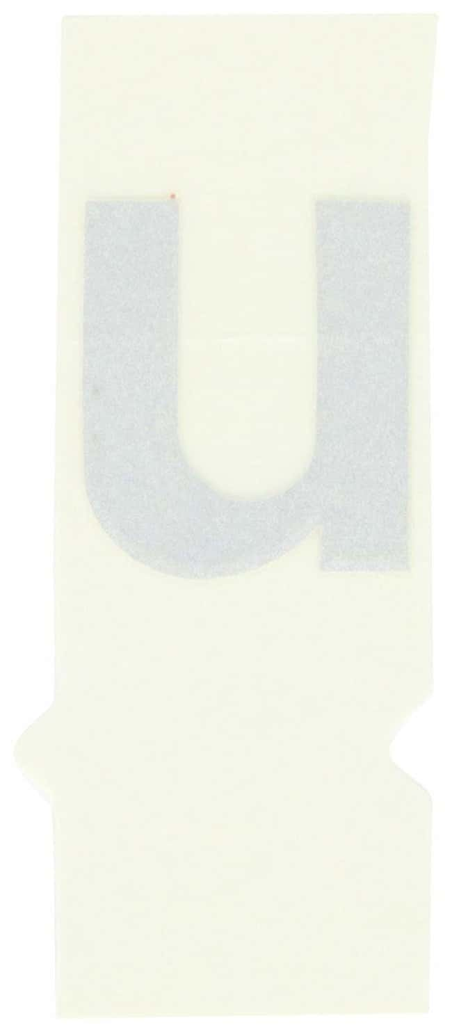Brady Reflective Quik-Lite Ten Packs - Printed Letter Lower Case: u:Gloves,