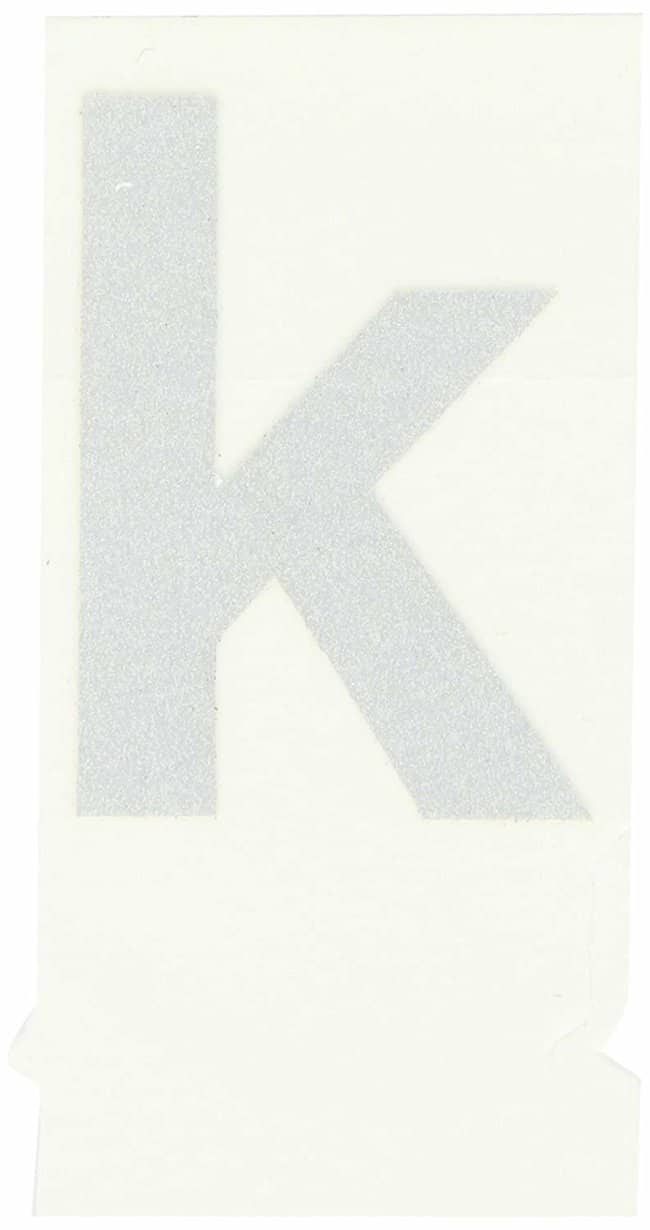 Brady Reflective Quik-Lite Ten Packs - Printed Letter Lower Case: k:Gloves,