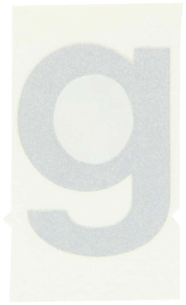 Brady Reflective Quik-Lite Ten Packs - Printed Letter Lower Case: g Character