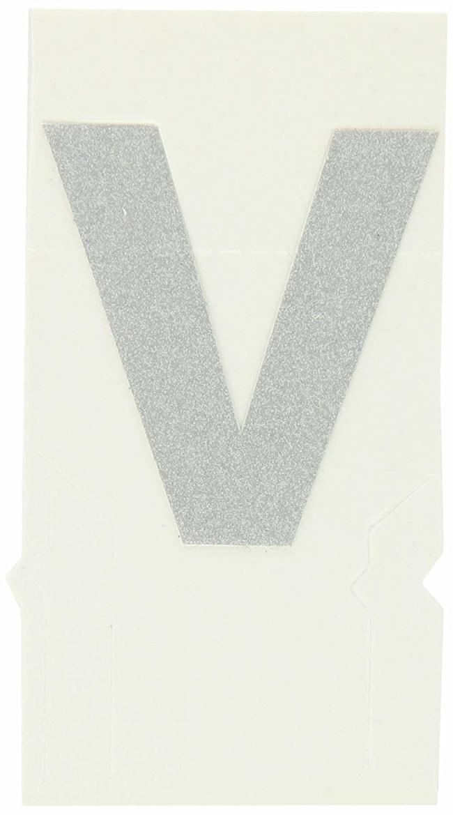Brady Reflective Quik-Lite Ten Packs - Printed Letter Lower Case: v:Gloves,