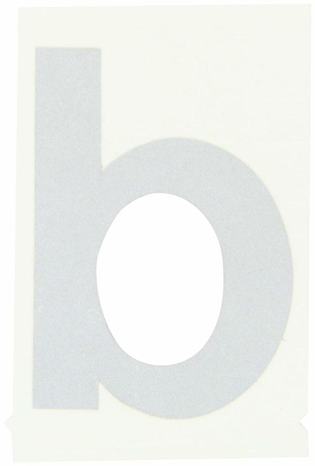 Brady Reflective Quik-Lite Ten Packs - Printed Letter Lower Case: b:Gloves,