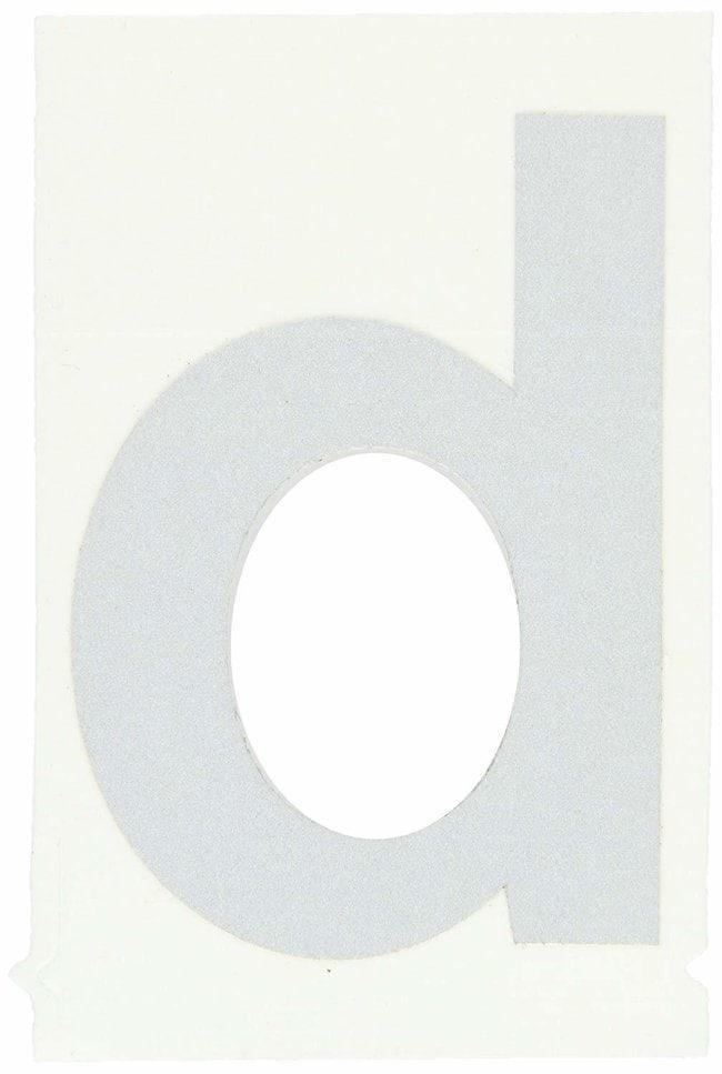 Brady Reflective Quik-Lite Ten Packs - Printed Letter Lower Case: d:Gloves,
