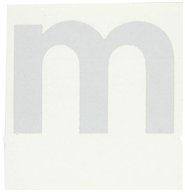 Brady Reflective Quik-Lite Ten Packs - Printed Letter Lower Case: m:Gloves,
