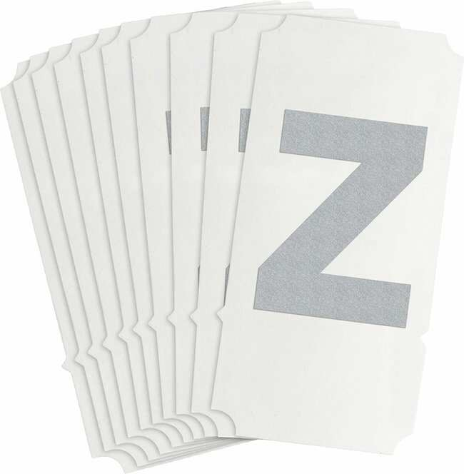 Brady Reflective Quik-Lite Ten Packs - Printed Letter Lower Case: z:Gloves,