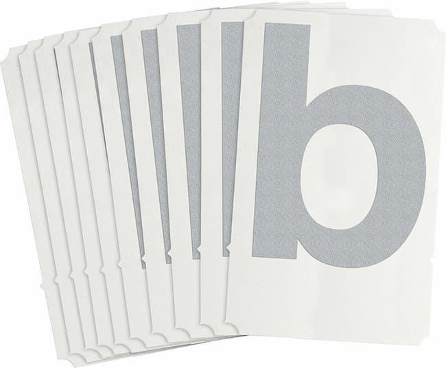 Brady Reflective Quik-Lite Ten Packs - Printed Letter Lower Case: b Character