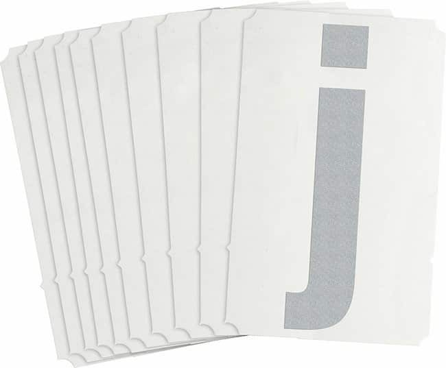 Brady Reflective Quik-Lite Ten Packs - Printed Letter Lower Case: j:Gloves,
