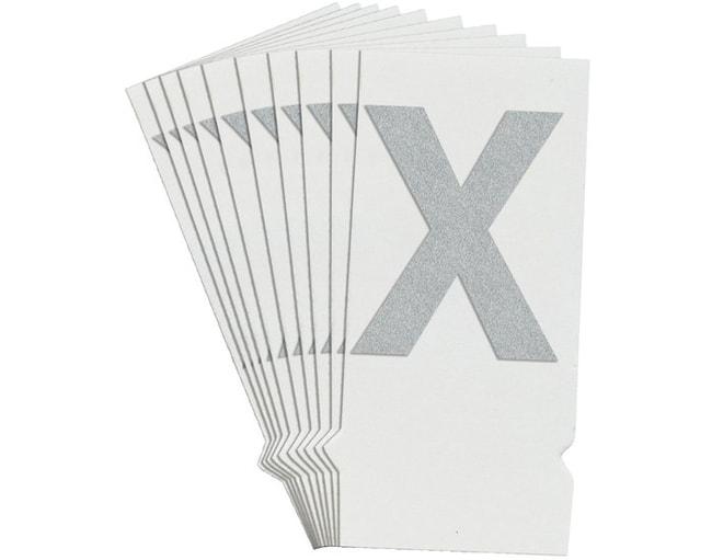 Brady Reflective Quik-Lite Ten Packs - Printed Letter Upper Case: X:Gloves,