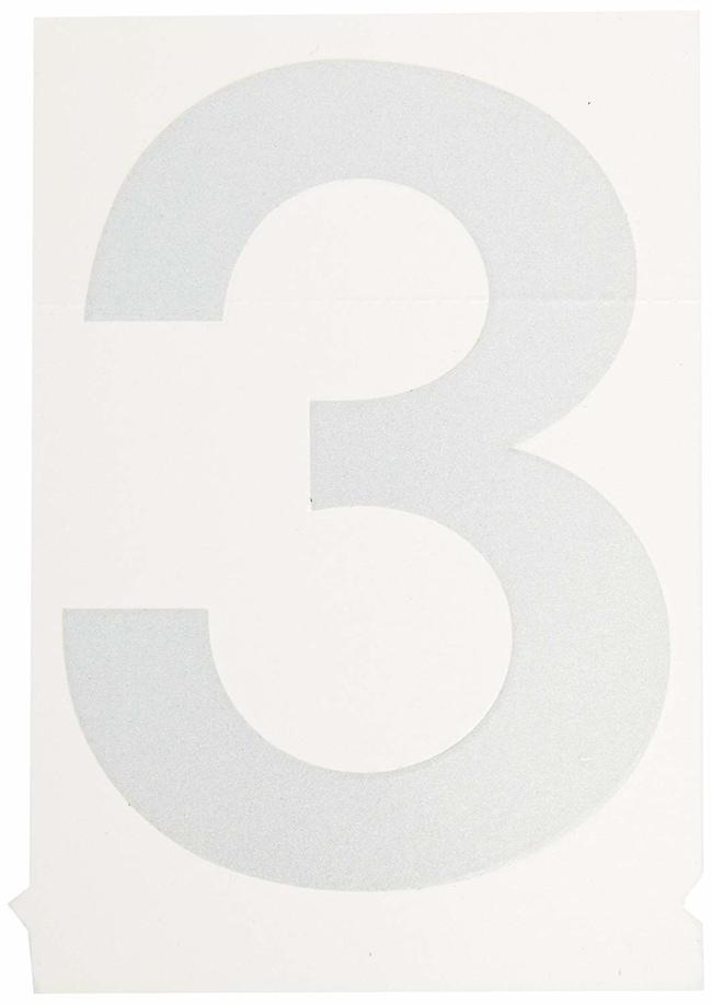 Brady Reflective Quik-Lite Ten Packs - Printed Number: 3:Gloves, Glasses