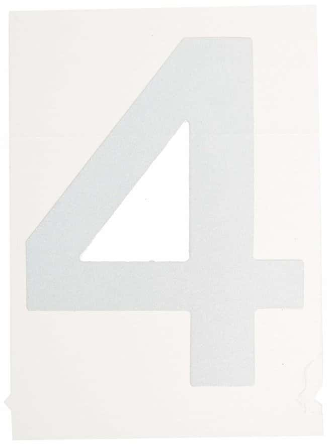 Brady Reflective Quik-Lite Ten Packs - Printed Number: 4 Character height: