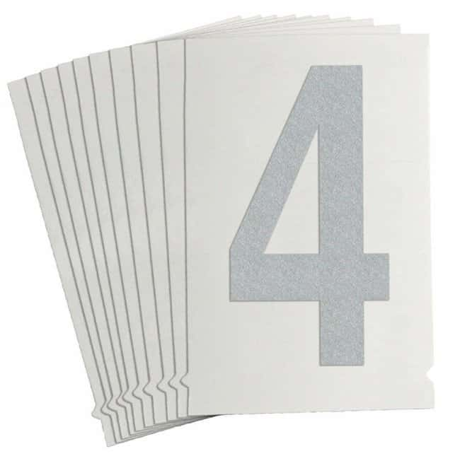 Brady Reflective Quik-Lite Ten Packs - Printed Number: 4 Character height: