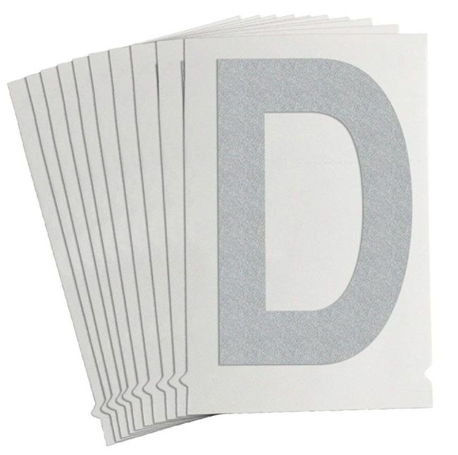 Brady Reflective Quik-Lite Ten Packs - Printed Letter Upper Case: D:Gloves,
