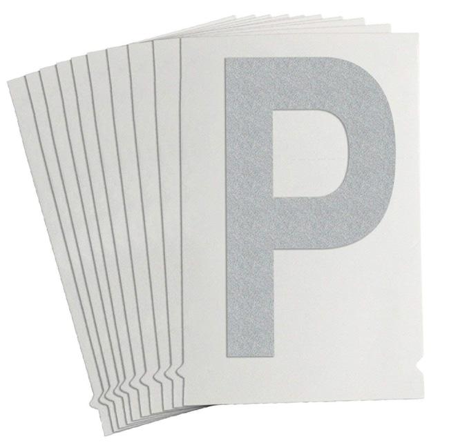 Brady Reflective Quik-Lite Ten Packs - Printed Letter Upper Case: P:Gloves,