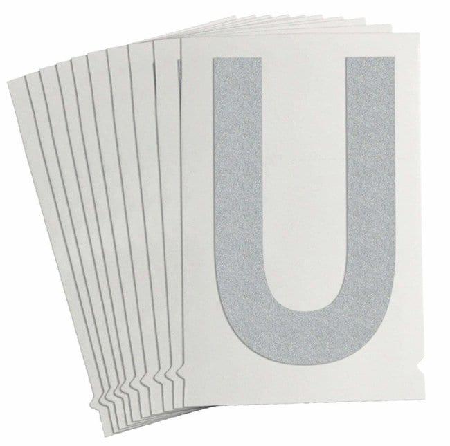 Brady Reflective Quik-Lite Ten Packs - Printed Letter Upper Case: U:Gloves,