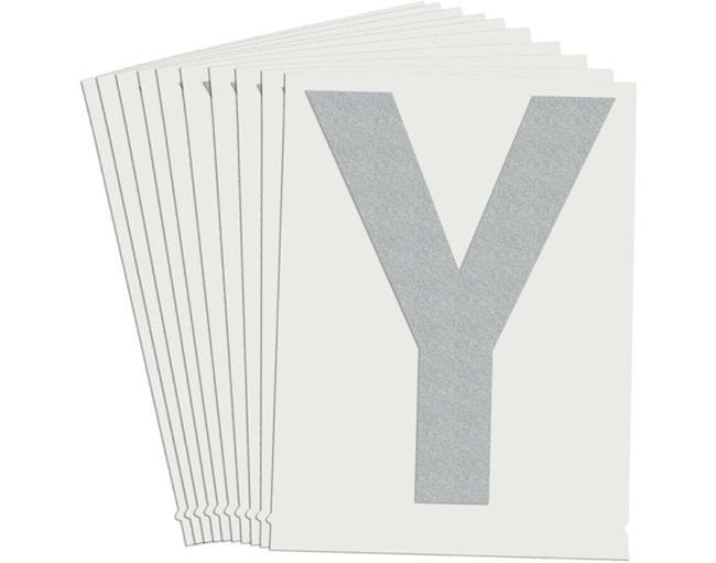 Brady Reflective Quik-Lite Ten Packs - Printed Letter Upper Case: Y:Gloves,
