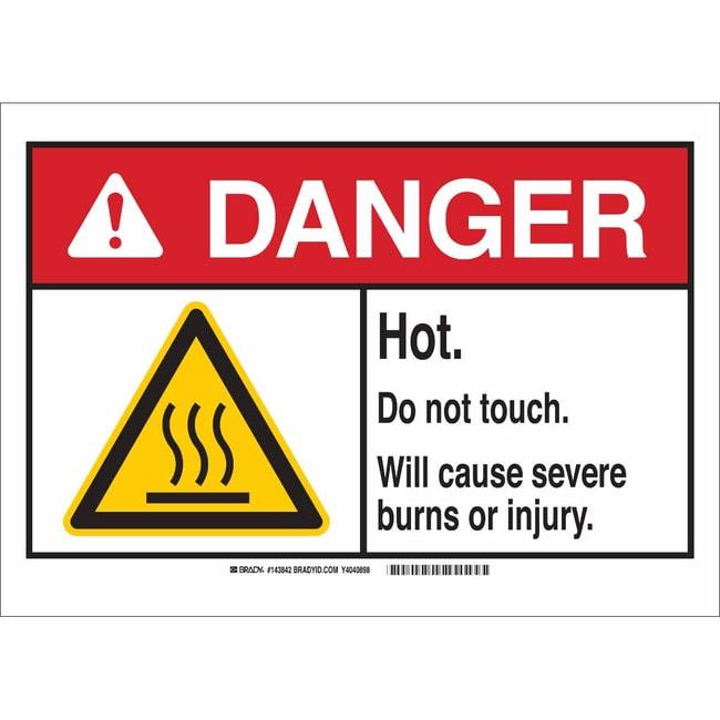 Brady Aluminum Sign: WARNING - CORROSIVE MATERIALS. WEAR PROTECTIVE CLOTHING.