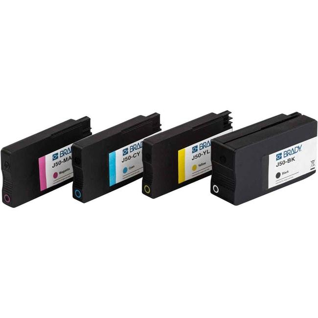 Brady J50 Series Printer Ink Set - Black/Cyan/Magenta/Yellow, Set of 4
