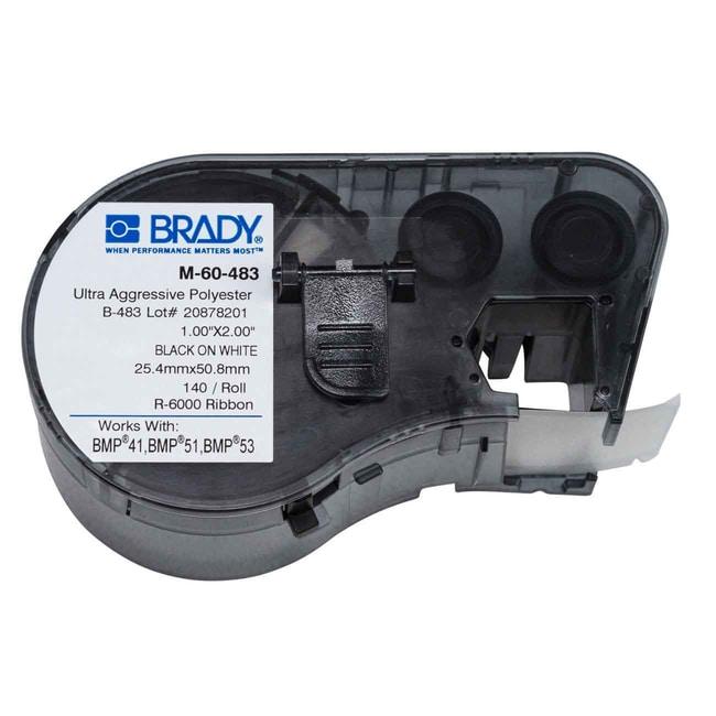 Brady™ToughBond™ hochbeständige Polyesteretiketten der M-Serie, schwarz auf weiß 1ZollHx 2ZollB Produkte