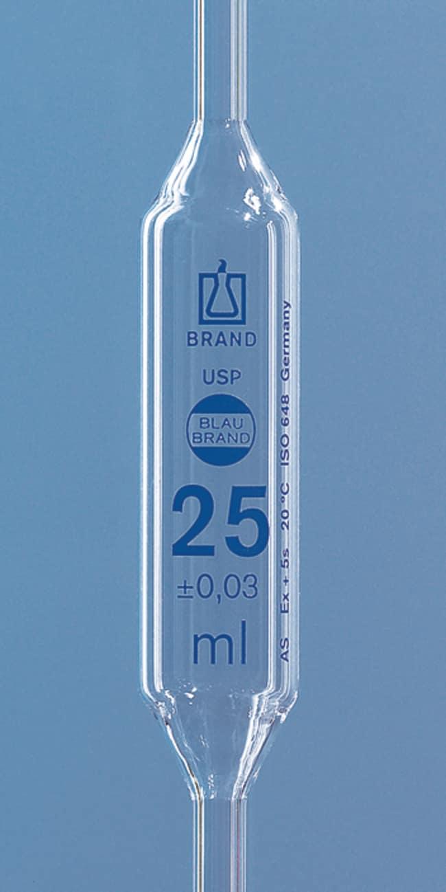 BRAND™BLAUBRAND™ Class AS AR-Glass Volumetric Bulb Pipet with USP Certificate Capacity: 5mL BRAND™BLAUBRAND™ Class AS AR-Glass Volumetric Bulb Pipet with USP Certificate