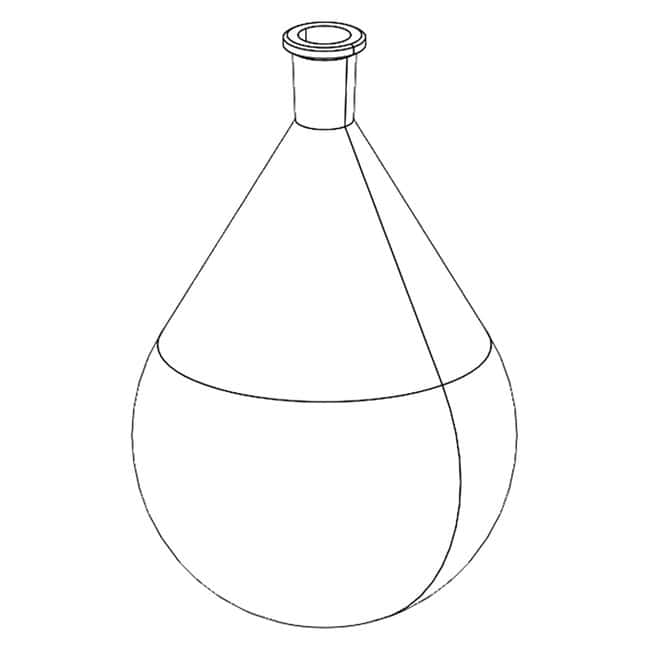 BUCHIEvaporating Flasks for Rotary Evaporators 4000 mL, Plastic and Glass,